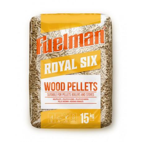 Medienos pjuvenų granulės 6 mm ROYAL SIX